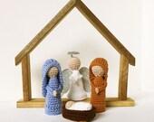 Nativity Set - Simple Wood Barn