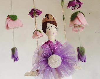 Ballerina's garden mobile / baby mobile / girl nursery decor