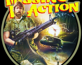 Chuck Norris Missing In Action Vintage Image T Shirt  Missing In Action Poster