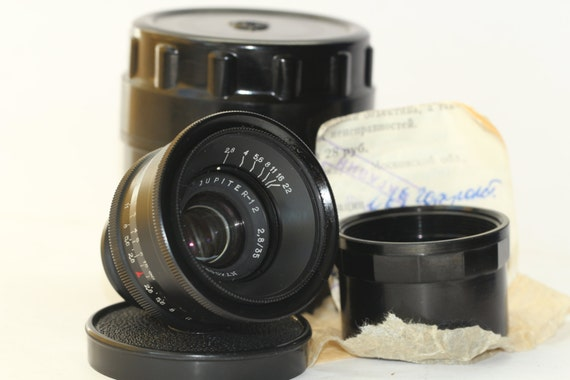 JUPITER-12 35 mm F/2.8 M39 RF Russian lens Leica Zorki KMZ N7400947
