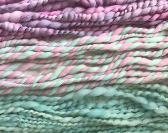 Hand dyed, hand spun merino yarn