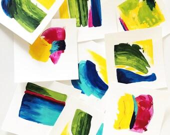 Original Acrylic Art Spring Colors Square Of Living Room