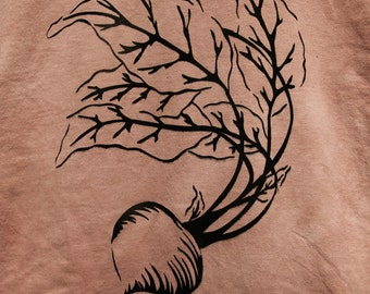 Beet Shirt, Screen Printed Vegetable T-shirt
