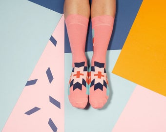 Cruz Pink Colorful Socks for Women. Free delivery!