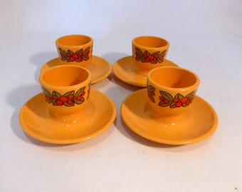 Emsa set of four egg cups – original from the 1970s