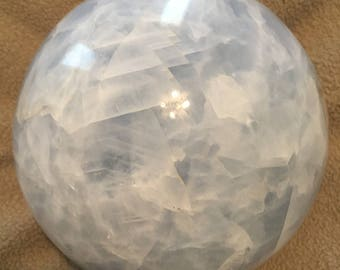"8.75"" Blue Calcite Sphere Free Shipping USA"