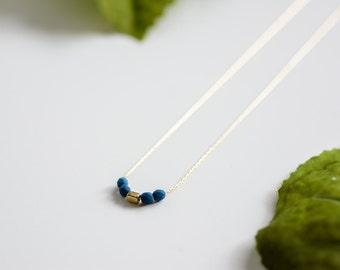 Navy and Gold Minimalist Necklace