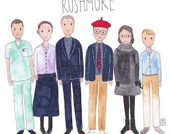Rushmore movie characters // Wes Anderson / printable art / digital download