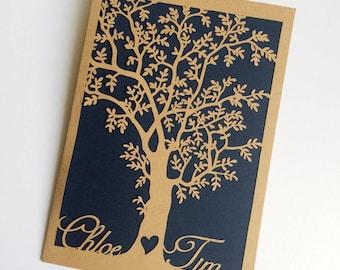 Laser Cut Tree Wedding Invitations,Laser Cut Wedding Invitation,Custom Laser Cut Bride And Groom's Name Tree Pocket Wedding Invitations