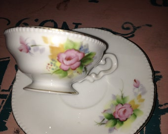 Hand painted TeaCup & Saucer