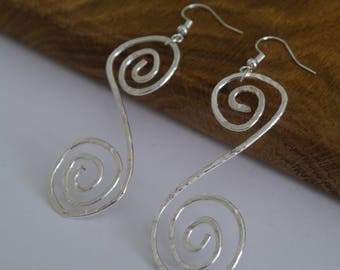 Handmade Silver Plated Hammered Earrings