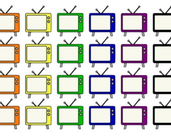 TV Set   Reminder   Favorite Shows   Planner Stickers   Matte   Glossy