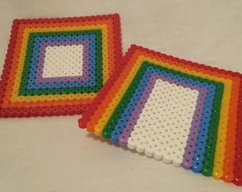 Rainbow Coasters - Set of 2