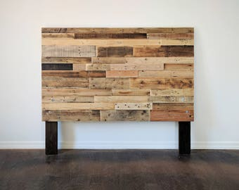 reclaimed recycled pallet wood headboard head board king queen full twin cali california beach house cabin