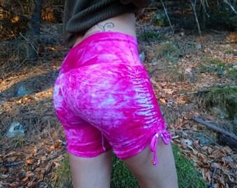 SALE! Princess Bubblegum - Hand dyed Organic bamboo velour Scrunch shorts