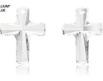 Swarovski 6860 - Bordered Cross Crystal Pendant