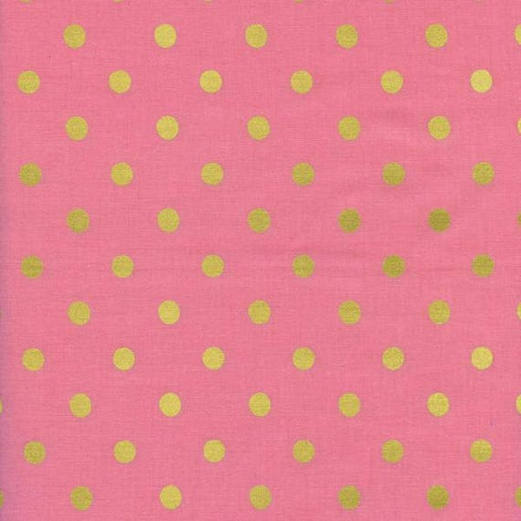 Crib Sheet >> Rifle Paper Co. Wonderland Dots in Pink > MADE-to-ORDER pink dots mini crib, pink gold crib sheet, blush bassinet baby bedding