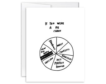 If You Were a Pie Chart Card - Inappropriate Greeting Card - SM1618