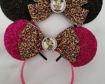 Safari Minnie Ears/Safari Mickey Ears