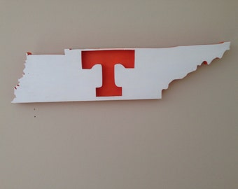 University of Tennessee, wooden sign, football, T