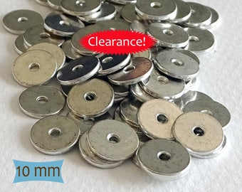 Thin Plain Pewter Spacers--30 Pcs | 24-SU112-30