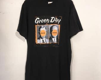 Vintage 90's Green Day Nimrod Tour Shirt XL
