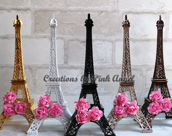 """10"""" Paris Eiffel Tower Cake Topper, Paris Wedding Cake Topper, Black Eiffel Tower Topper, Gold Eiffel Tower Topper, 1 Tower Included"""