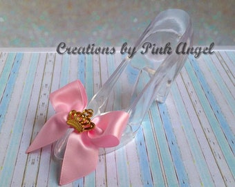 Princess Gold Crown Cake Topper, Princess Shoe Topper, High Heel Princess Cake Topper, Pink and Gold Slipper Topper, 1 Slipper Included