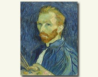 Vincent Van Gogh Self Portrait 1889 - van gogh reproduction Print  t