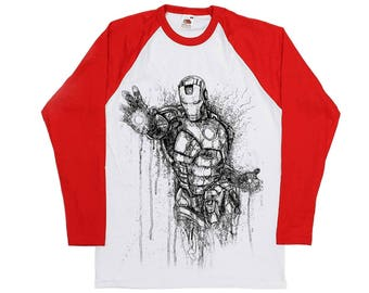 Iron man Longsleeve Baseball T -Shirt