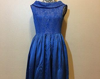 Vintage Blue Dress   Vintage 1950s Dress