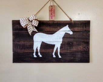 Horse Decor, Horse Lover Gifts, Horse Sign, Western Horse Decor, Rustic Western Decor, Equestrian Gift, Equestrian Decor, Country Girl Gifts