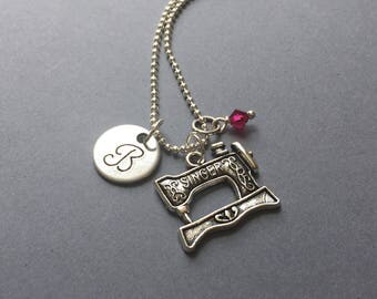Sewing Machine Necklace-Seamstress Necklace-Sewing Jewelry
