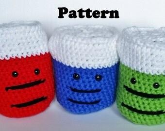 PATTERN Amigurumi Crochet Beaker-Soft Science Toy