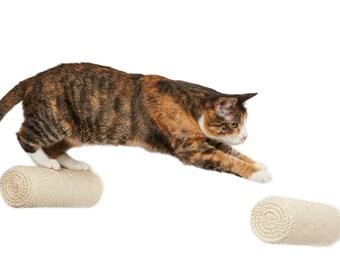 climbing step, sisal post, scratching post, bracket-less post, sisal wrapped scratching post, agave sisal, cat furniture,cat playground
