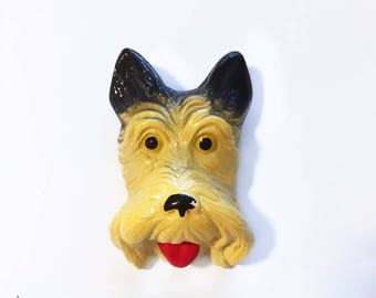 Scottie Chalkware Wall Art