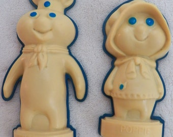 Poppin' Fresh Doughboy and Poppie Magnets
