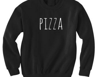 Pizza Sweatshirt Black or Gray