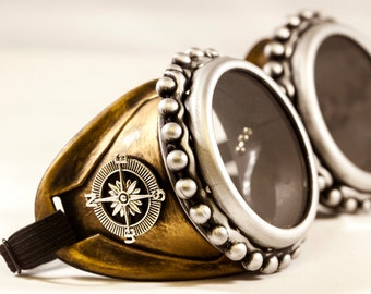 Mad Max Goggles with Necklace -Steampunk Glasses -Steampunk Goggles-Welding Goggles