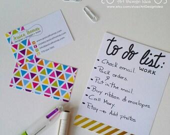 Premade Business Card. Triangle Design. Printable Business Card Design.