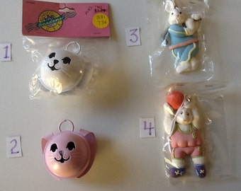 Easter Bunny Bells and Resin Bunnies