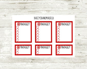 Target Shopping List Stickers