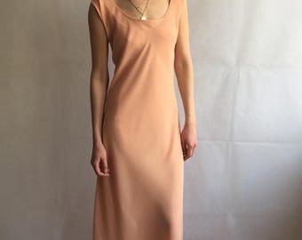 Vintage Layered Peach Maxi Dress