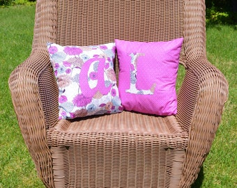 Monogram Customizable Throw Pillows 14''x14''