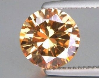 Cubic Zirconia AAA Rated Round Champagne CZ Loose Stones (1mm - 17mm)