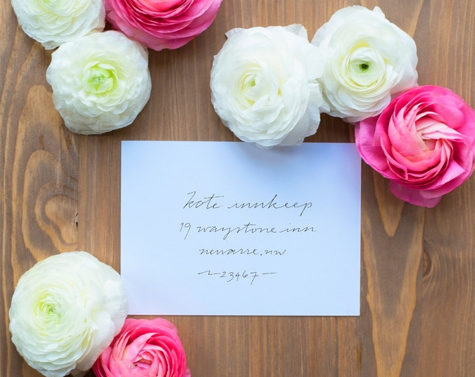 Hand-Addressed Calligraphy Invitation - Affordable - Wedding - Party - Naz