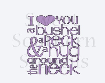 I Love You a Bushel and a Peck Cookie Stencil