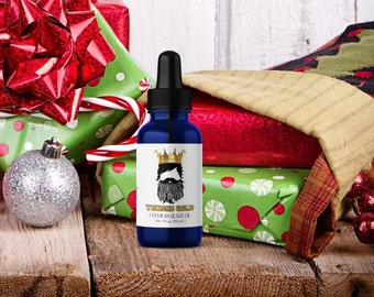 christmas gifts for men - yukons gold beard oil - frankincense and myrrh