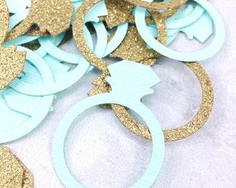 Ring Confetti | Bachelorette Party | Bridal Shower | Engagement Party | Bachelorette Party Decorations | Bachelorette Decor | Bride Tribe |