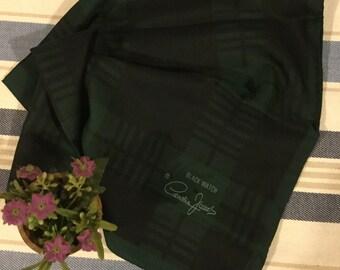 Black Watch tartan headscarf with Royal Warrant scarf